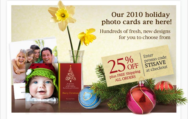 25 off 2010 holiday photo cards - Simply To Impress Christmas Cards