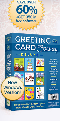 Greeting card factory deluxe 10 save over 60 get 350 in free software greeting card factory deluxe 10 m4hsunfo