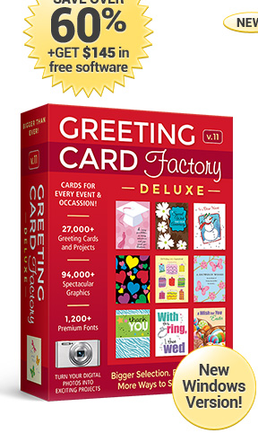 Greeting card factory deluxe 11 save over 60 get 145 in free software m4hsunfo