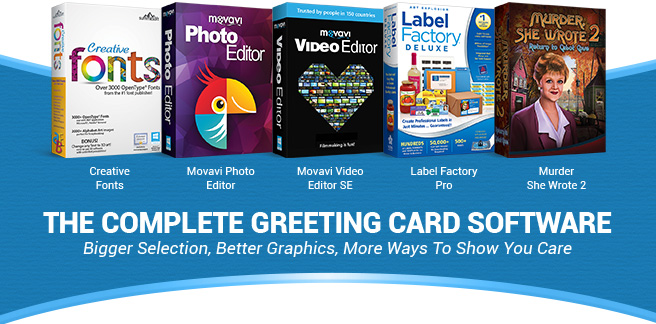 Greeting card factory deluxe 11 the complete greeting card software bigger selection better graphics more ways to show m4hsunfo