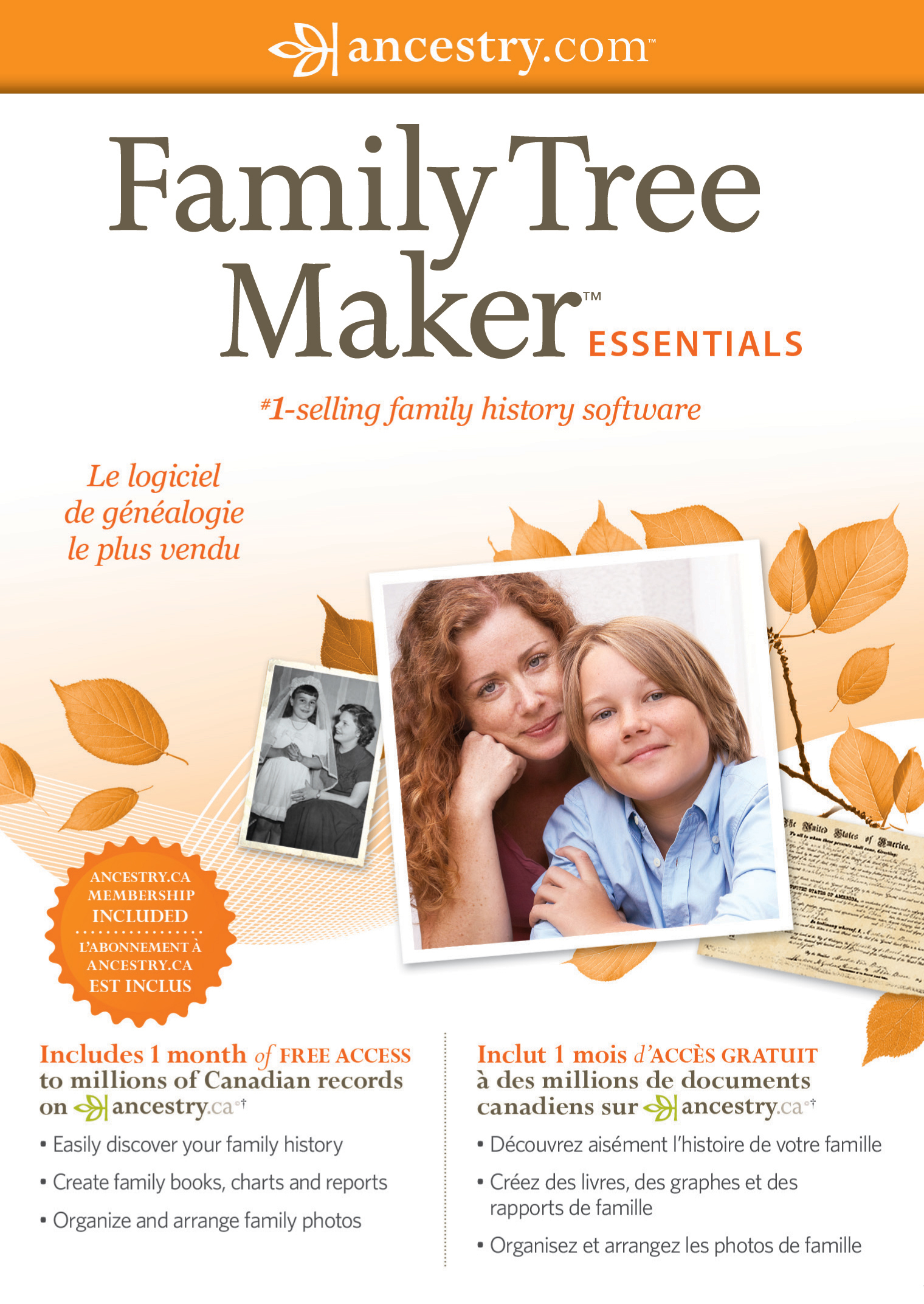 family tree maker essentials bilingual  french